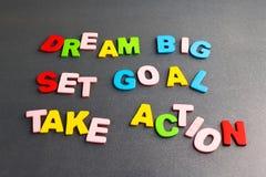 Dream Big, Set Goal, Take Action Royalty Free Stock Photos