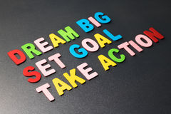 Dream Big, Set Goal, Take Action Royalty Free Stock Images