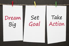 Dream Big Set Goal Take Action royalty free stock photography