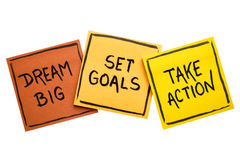 Dream big, set goals, take action concept Royalty Free Stock Photography