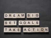 Dream Big Set Goals Take Action vector illustration