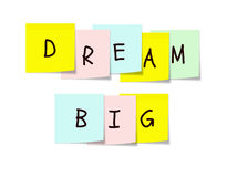Dream Big Sticky Notes Royalty Free Stock Photos
