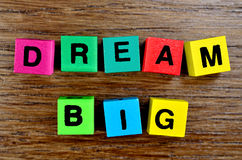 Dream Big on table Stock Image