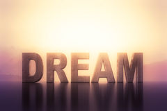 Dream. Big dream text on a abstract background Stock Photography