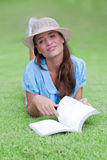 Dream with book Stock Photography