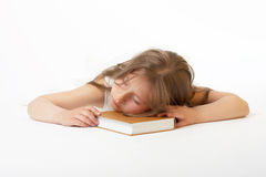 Dream on the book Royalty Free Stock Photos