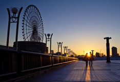Dream Bridge in Tokyo. A couple of lovers walking on Dream bridge in Tokyo Stock Photography