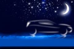 Dream car. The dream image of a car in the sky Stock Photos