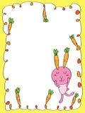Dream carrot rabbit frame Royalty Free Stock Photo