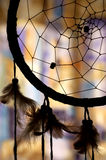Dream catcher. Silhouette detail of a native american dream catcher Stock Photos