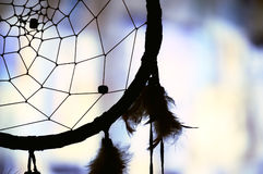 Dream catcher. Native american dream catcher in silhouette Royalty Free Stock Image