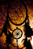 Dream catcher. Native American dream catcher in silhouette Royalty Free Stock Photo