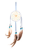 Dream catcher. Blue dream catcher isolated on white background Royalty Free Stock Photo