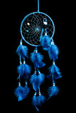 Dream catcher on a black background Royalty Free Stock Images