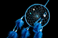 Dream catcher on a black background Stock Photo