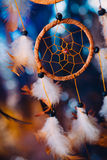 Dream catcher on the bright multicolored background Stock Images