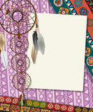 Dream catcher card Royalty Free Stock Photography
