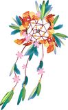 Dream catcher. With colorful feather Royalty Free Stock Photos