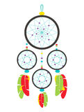Dream catcher colorful isolated Royalty Free Stock Photo