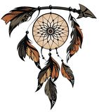 Dream catcher. Decorative dream catcher for your design royalty free illustration