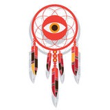 Dream catcher with eye Royalty Free Stock Photography