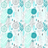 Dream catcher with feathers seamless pattern Royalty Free Stock Image