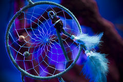 Dream catcher on a forest at night Stock Photo