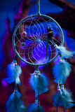 Dream catcher on a forest at night Stock Image
