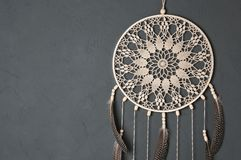 Dream catcher on gray stock images