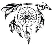 Dream catcher. Hand drawn illustration of dream catcher Stock Images