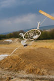 Dream catcher hanging  in a dry land. Dream catcher hanging in a dry land Royalty Free Stock Photo