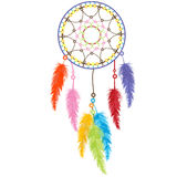 Dream catcher. Isolated over white background Royalty Free Stock Images