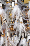 Dream catcher. Native American culture dream catcher feathers Royalty Free Stock Images