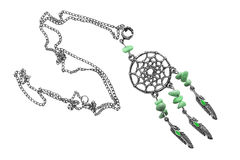 Dream catcher necklace Royalty Free Stock Images