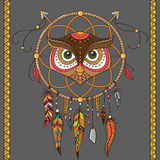 Dream catcher with owl Stock Photography