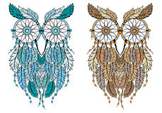Dream catcher owl, vector Royalty Free Stock Image