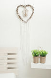 Dream catcher with pearls Royalty Free Stock Images