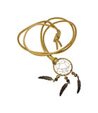 Dream Catcher and Rawhide Necklace Stock Images