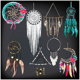 Dream catcher set royalty free illustration