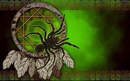Dream catcher with spider Stock Photo