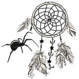 Dream Catcher with Spider Royalty Free Stock Photos