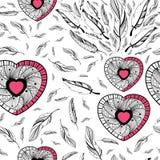 Dream Catcher in Tribal boho style seamless pattern Stock Photos