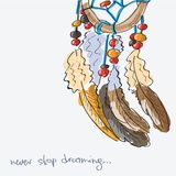 Dream  catcher, vector illustration Royalty Free Stock Photo