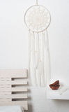 Dream catcher with white feathers Stock Image
