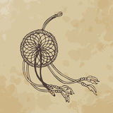 Dream catcher. (wind). Aged paper Royalty Free Stock Photo