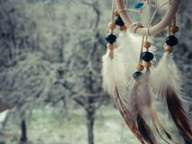 Dream catcher on a winter forest Stock Photography