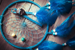 Dream catcher on wooden background Royalty Free Stock Image