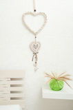 Dream catcher with wooden hearts Stock Photo