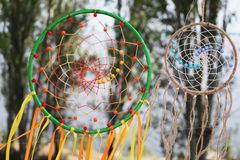 Dream catchers. Native American amulet talisman royalty free stock photo