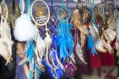 Dream catchers. Native American dream catchers for sale at Kahnawake POW WOW Stock Photos